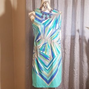 London times summer dress sz 6 w/accessories